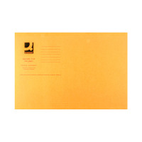 Q-Connect Orange Square Cut Folder Lightweight 180gsm Foolscap (Pack of 100) KF26030