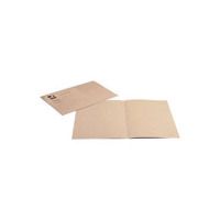 Q-Connect Buff Square Cut Folder Lightweight 180gsm Foolscap (Pack of 100) KF26032