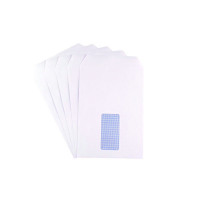 Q-Connect C5 Window Envelopes 90gsm Self Seal White (Pack of 500) 2820