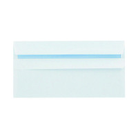 Q-Connect DL Wallet Envelopes 100gsm Self Seal White 7137 (Pack of 1000)