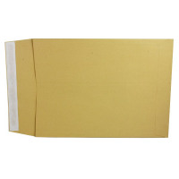 Q-Connect Gusset Envelope 381x254x25mm 120gsm Manilla Peel and Seal (Pack of 100) KF3528
