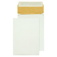 Q-Connect Padded Gusset Envelope B4 353x250x50mm Peel and Seal White (Pack of 100) KF3532
