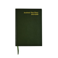 Academic Diary A5 Week to View 2019-20 Green KF3A5AGN19