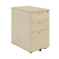 Jemini Maple 600mm 3 Drawer Desk High Pedestal KF72071
