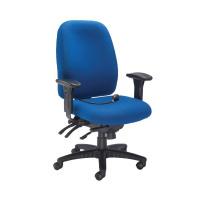 Avior Snowdon Heavy Duty High Back Chair With Lumbar Support Blue KF72249