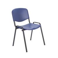 Jemini Multipurpose Polypropylene Stacking Blue Chair KF72368