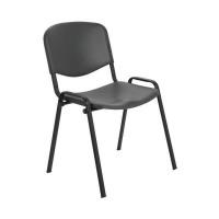 Jemini Multipurpose Polypropylene Stacking Chair Charcoal KF72369
