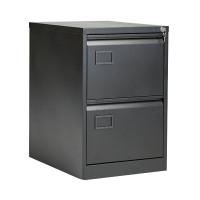 Jemini 2 Drawer Black Filing Cabinet