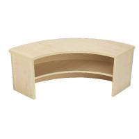 Jemini Intro 90 Degree Corner Desk Riser Warm Maple KF73527
