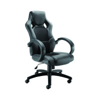 Arista Black Bolt Leather-Look Racing Chair KF73591