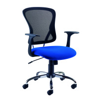 Arista Contemporary Mesh Blue Chair and Black KF73605
