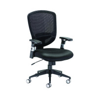 Arista Fusion High Back Mesh Chair With Lock and Tilt Black KF73906