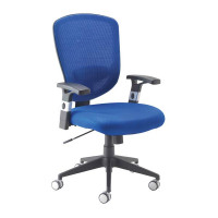 Arista Fusion High Back Mesh Chair With Lock and Tilt Blue KF73907