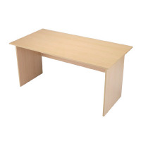 Jemini Intro 1500mm Panel End Desk Warm Maple KF73974