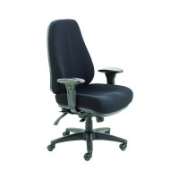 Arista Lucania High Back Task Black Chair KF74020