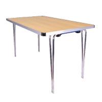 Jemini Aluminium Folding Table Rectangular Beech W1220xD685xH698mm KF74027