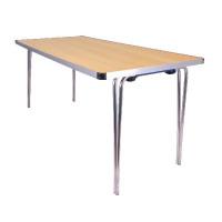 Jemini Aluminium Folding Table Rectangular Beech W1520xD685xH698mm KF74028