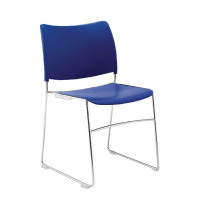 Arista Heavy Duty Stacking Blue Chair  KF74199