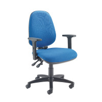 Capella Intro Posture Chair With Lumbar Support Blue KF74282
