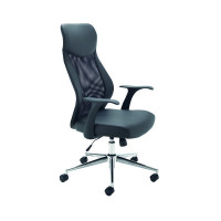 Jemini Mesh High Back Operator Black Chair KF74501