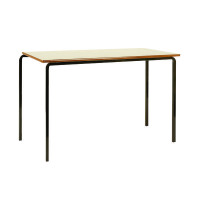 Jemini MDF Edge Beech Top Class Table With Black Frame 1100x550x590mm (Pack of 4) KF74550