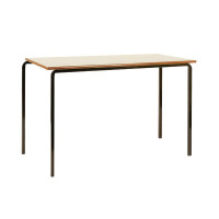 Jemini MDF Edge Beech Top Class Table With Black Frame 1200x600x590mm (Pack of 4) KF74551