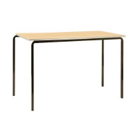 Jemini MDF Edge Beech Top Class Table With Silver Frame 1200x600x710mm (Pack of 4) KF74559