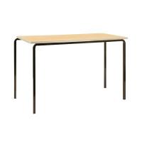 Jemini PU Edge Beech Top 1100x550x590mm Class Table With Black Frame (Pack of 4) KF74562