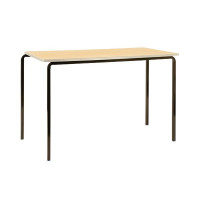 Jemini PU Edge Beech Top 1100x550x710mm Class Table With Black Frame (Pack of 4) KF74564