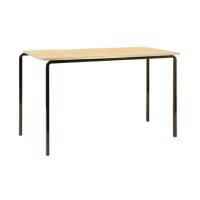 Jemini PU Edge Beech Top 1200x600x710mm Class Table With Black Frame (Pack of 4) KF74565