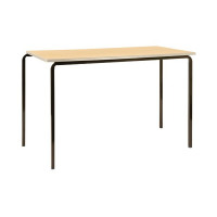 Jemini PU Edge Beech Top 1100x550x760mm Class Table With Black Frame (Pack of 4) KF74566