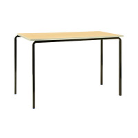 Jemini PU Edge Beech Top 1100x550x590mm Class Table With Silver Frame (Pack of 4) KF74568