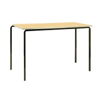 Jemini PU Edge Beech Top 1200x600x590mm Class Table With Silver Frame (Pack of 4) KF74569