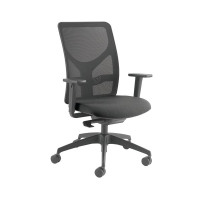 Arista Push Mech Mesh Task Black Chair