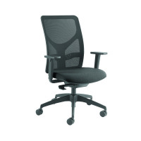 Arista Push Mech Mesh Task Black Chair KF74644