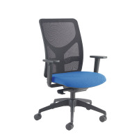 Arista Push Mech Mesh Task Blue Chair KF74645