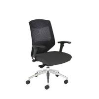Arista Medium Back Mesh Task Black Chair KF74647