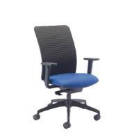 Arista Push Mech Fabric Task Blue Chair