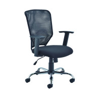 First Mesh Task Chair Black (Seat Dimensions: W500 x D480mm)  KF74832