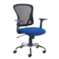 First Contemporary Mesh Chair Blue Black KF74845