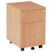 First Mobile Under Desk Pedestal 2 Drawer Beech KF74913