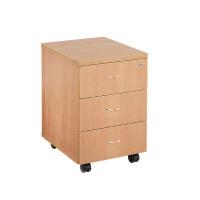 First Mobile Under Desk Pedestal 3 Drawer Beech KF74915