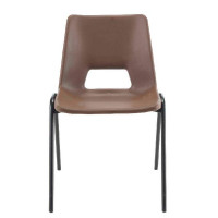 Jemini Polypropylene Stacking Chair Brown KF74962