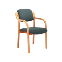Jemini Charcoal Wood Frame Arm Chair KF78681