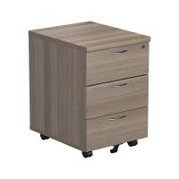 Jemini Grey Oak 3 Drawer Mobile Pedestal (Dimensions: W404 x D500 x H595mm) KF78945