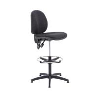 Arista Charcoal Adjustable Draughtsman Chair KF815148