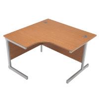 Jemini Oak 1200mm Left Hand Radial Cantilever Desk KF838040