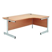 Jemini Beech 1600mm Right Hand Radial Cantilever Desk KF838048