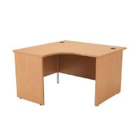 Jemini Oak Left Hand Panel End Radial Desk 1200mm KF838058