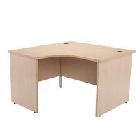 Jemini Maple Left Hand Panel End Radial Desk 1200mm KF838059